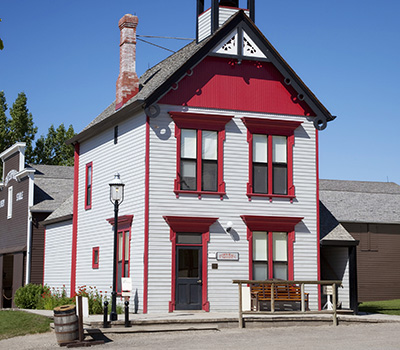 Town Hall at Heritage Park in Calgary